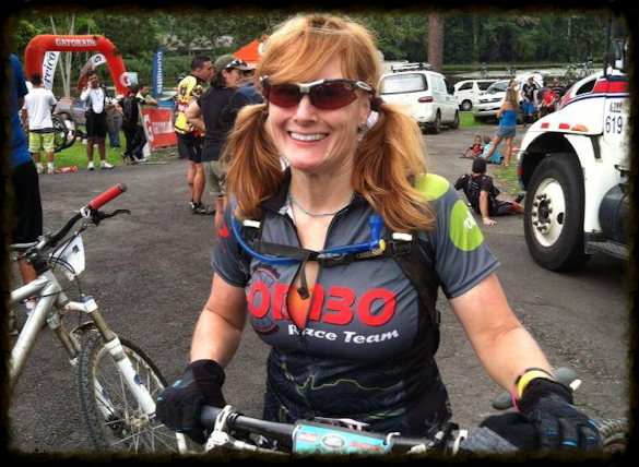 Heidi, COMBO's IMBA ICP Certified LeadInstructor.And all around bad-ass mountain bike rider & racer.