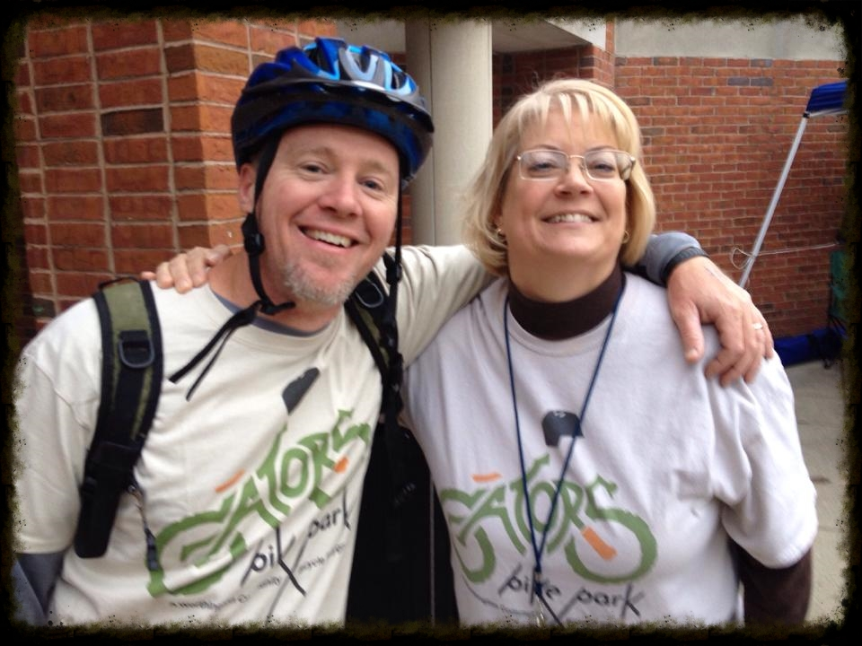 Rick Armstrong with Principal Patti Schlaegel