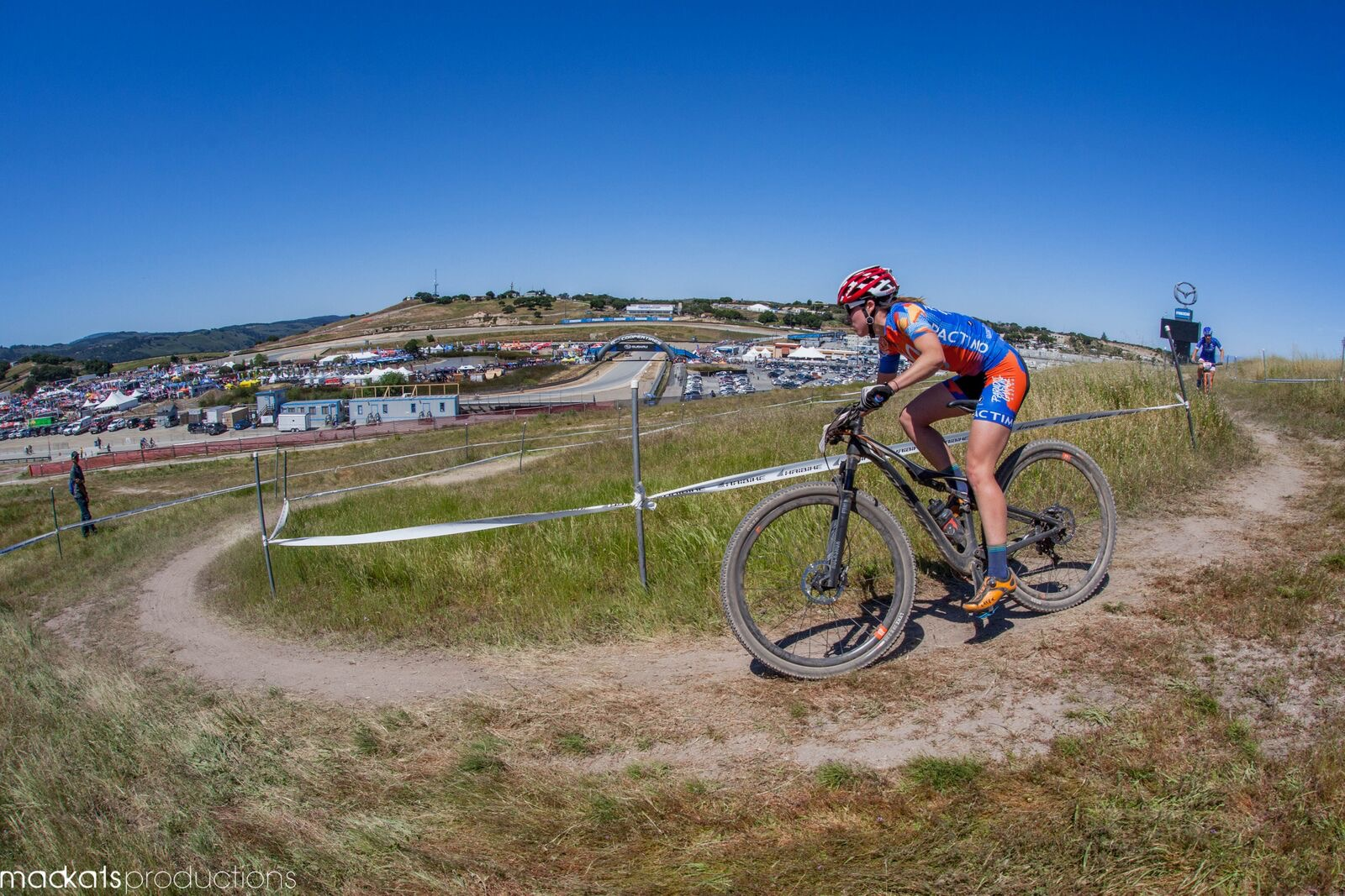 Racing the Short Track at the Sea Otter Classic.