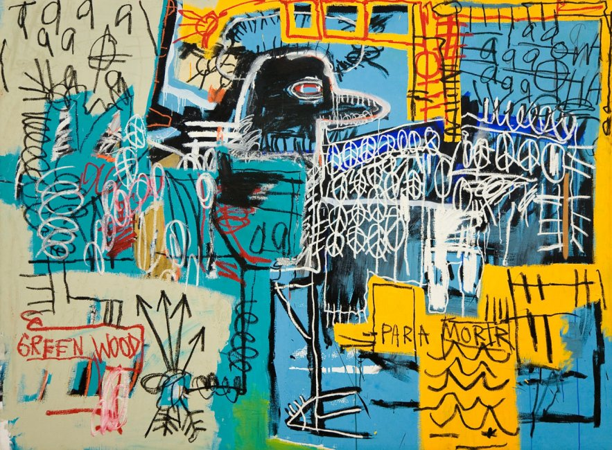 Basquiat,  Bird on Money