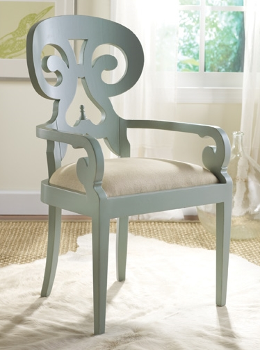 Coastal Scroll Arm Chair