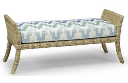 Woven Sea Grass Bench