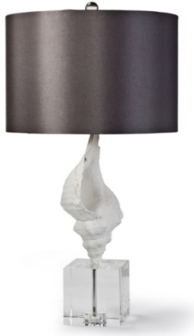 White Conch on Plexi Lamp