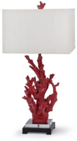 Red Coral Branch Lamp