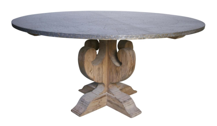 Weathered Wood Round Table