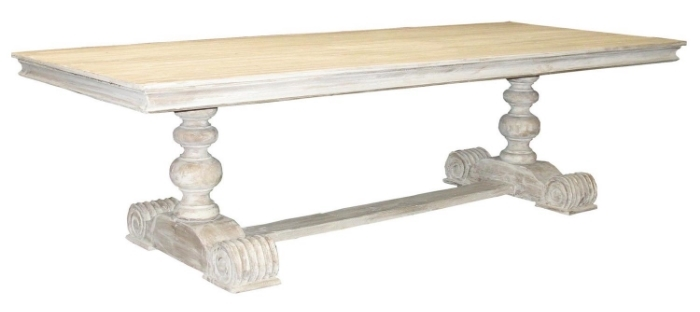 Rectangular White Wash Dinning Table