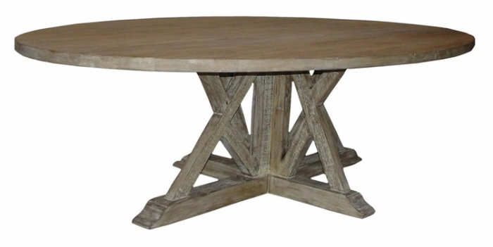 Oval Reclaimed Wood Dinning Table