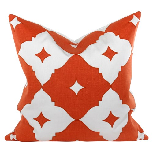 Orange Large Square Pillow