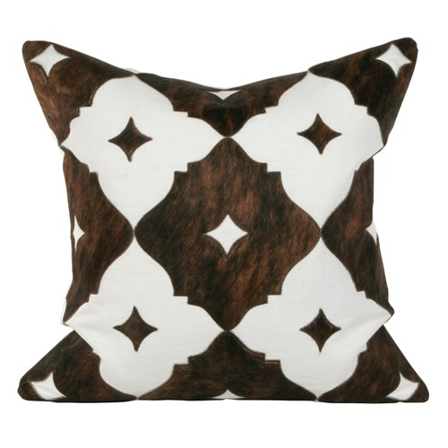 Cowhide Square Large Pillow