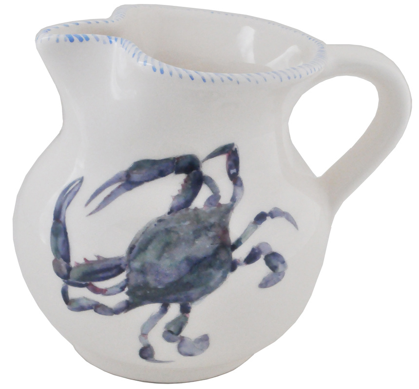 Blue Crab Pitcher