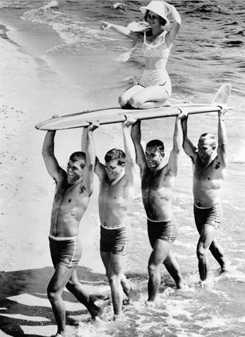 Surfer Dudes' Babe