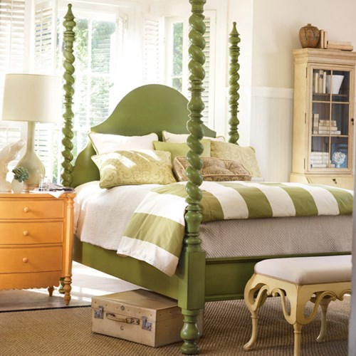 Spiral Four Poster Bed