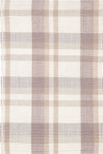 Brown Plaid In/Out Rug