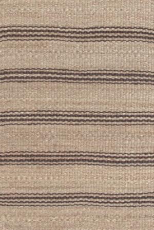 Brown Striped Jute Rug