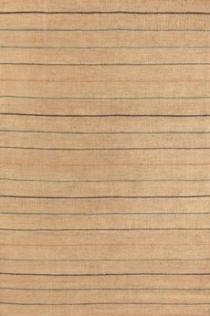 Subtly Striped Jute Rug