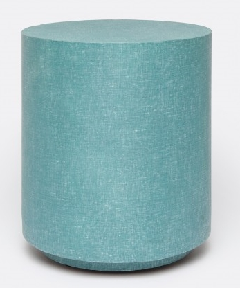 Turquoise Linen Occasional Table