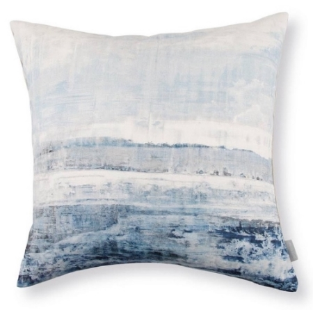 Abstract Watercolor Waves Pillow