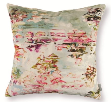 Lotus Watercolor Pillow