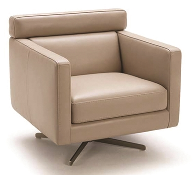 Modern Leather Club Chair