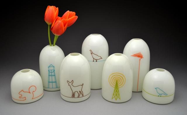 Assorted Modern Vases
