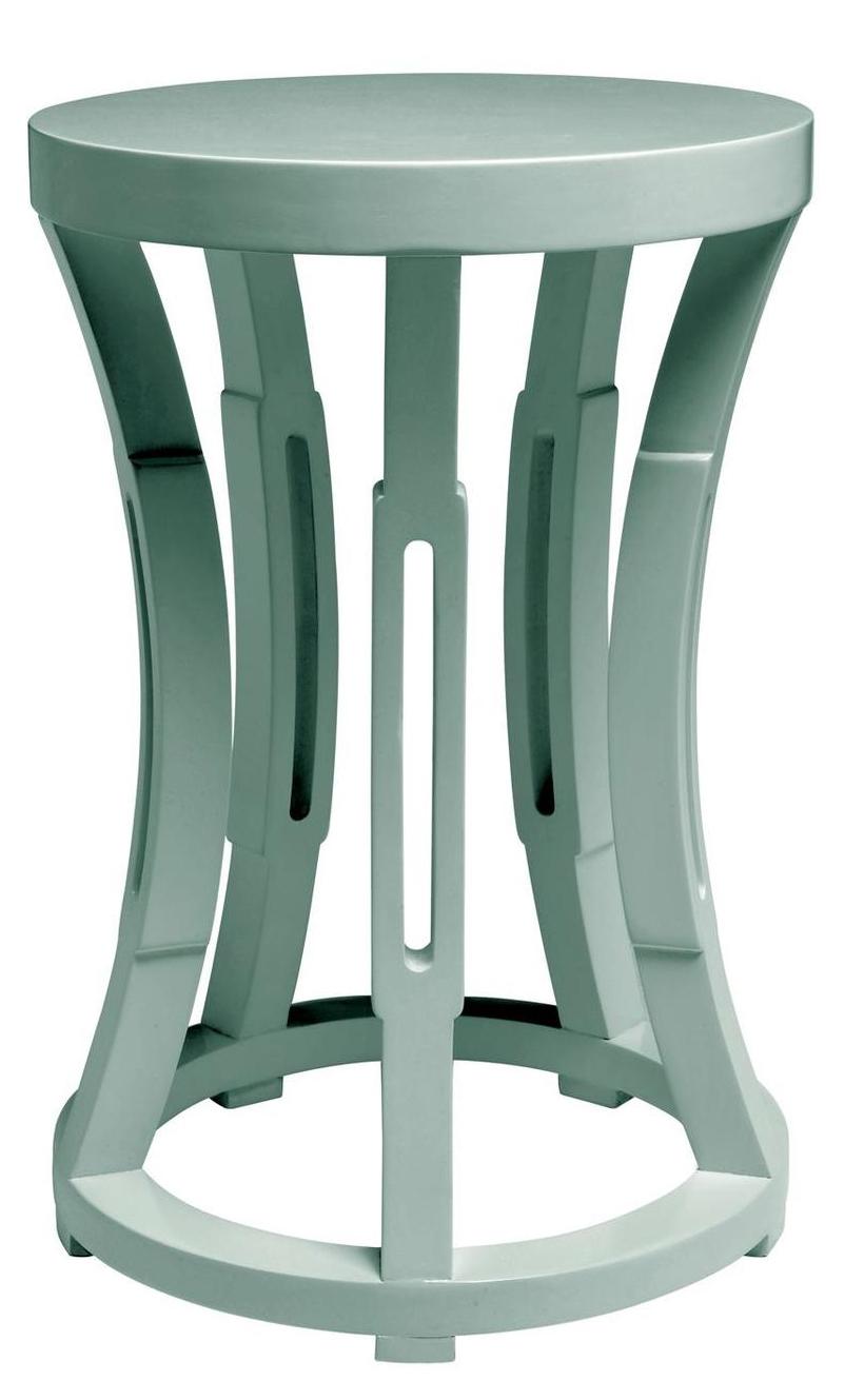 Concave Drum Occasional Table Aqua