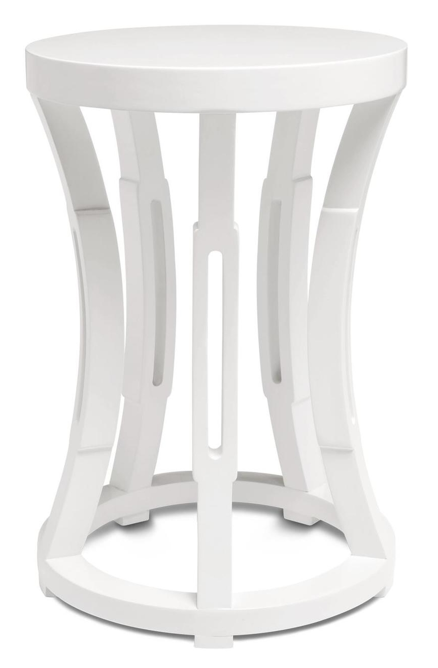 Concave Drum Occasional Table White