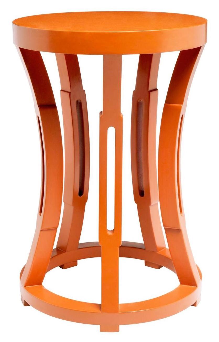 Concave Drum Occasional Table Orange