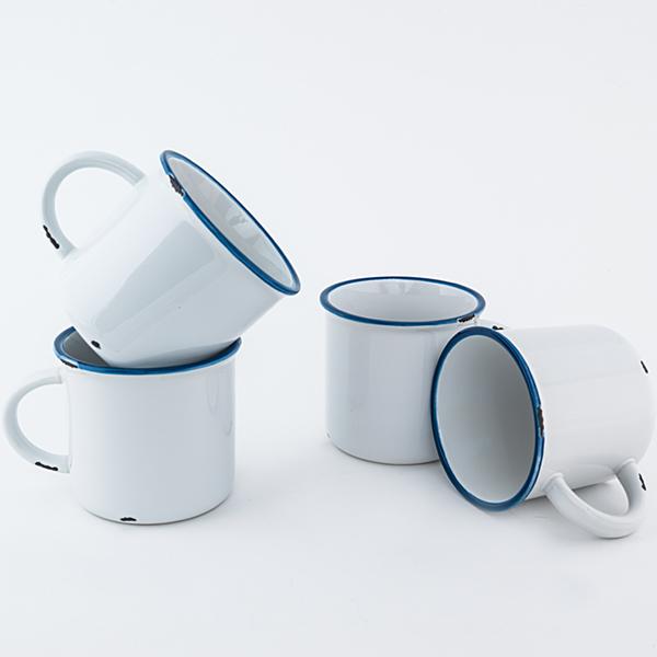 White Ceramic Tinware Mug