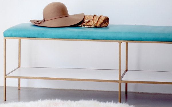 Teal & Gold Bench