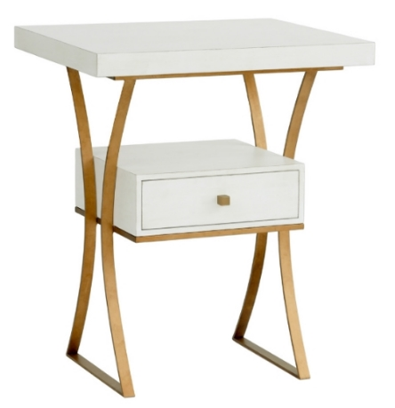 White & Gold End Tables