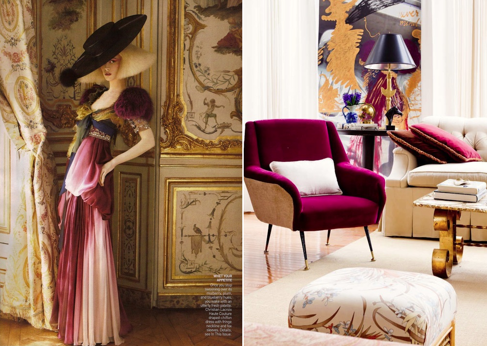 Image on left from  Vogue  and the  Raji RM  interior photo at right by  Rikki Snyder