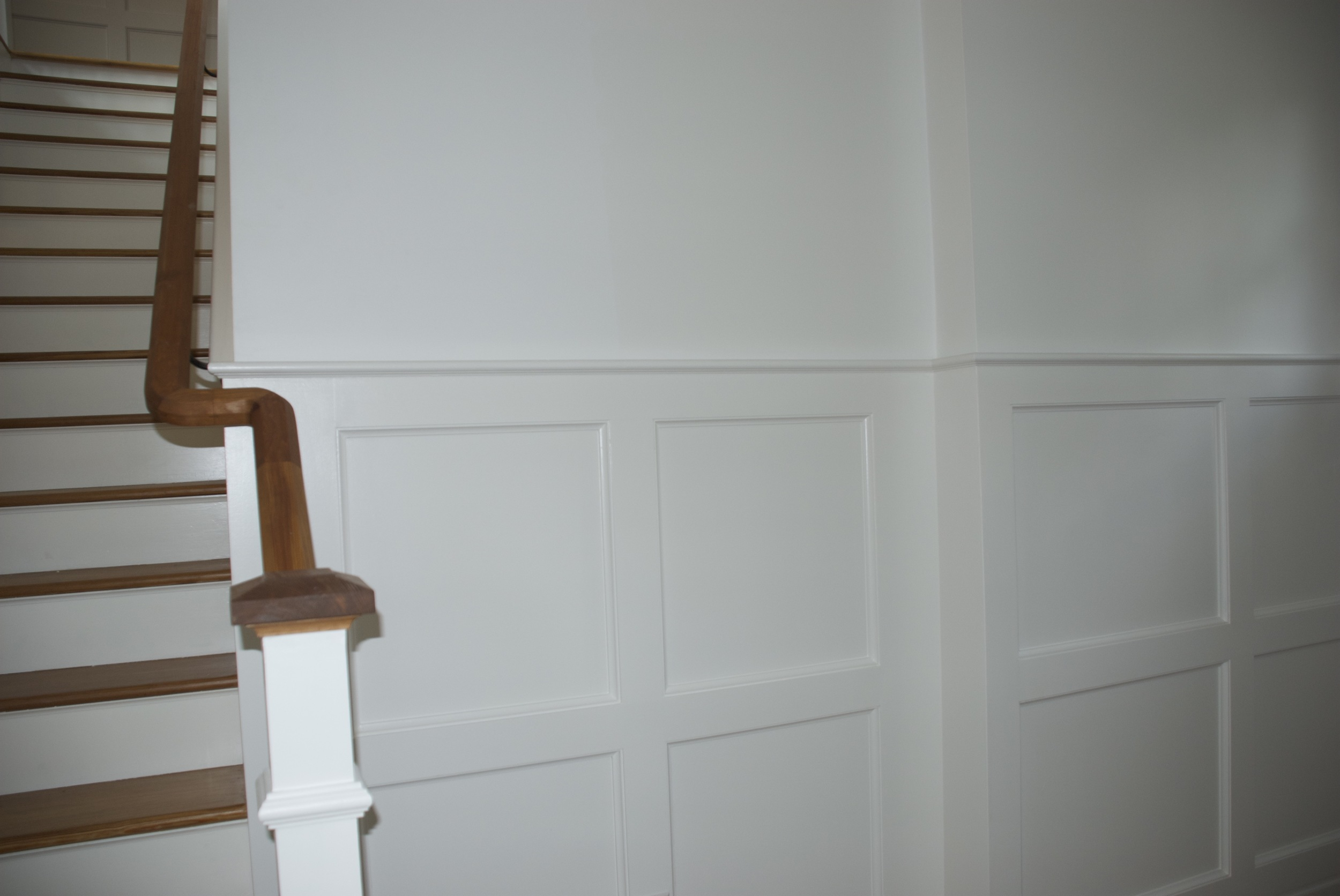 The new wainscot paneling  Raji RM  designed for the main entry