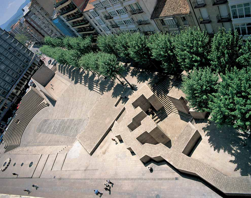 """The Basque Liberties Plaza"", 1980, reinforced concrete and steel."