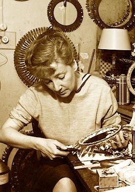 Line Vautrin: The artist at work