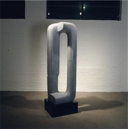 In Silence Walking, 1970, Bardiglio Marble, Isamu Noguchi