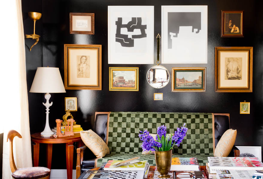 Design by  Raji RM & Associates  - A salon style display of art works