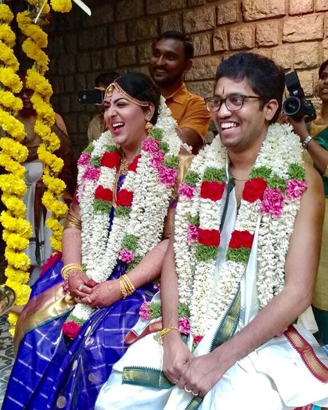 My baby girl is actually married!!! And we now have a new son in the family!!! ❤️#proudmama #southindianwedding #oonjal #india #indianwedding #incredibleindia