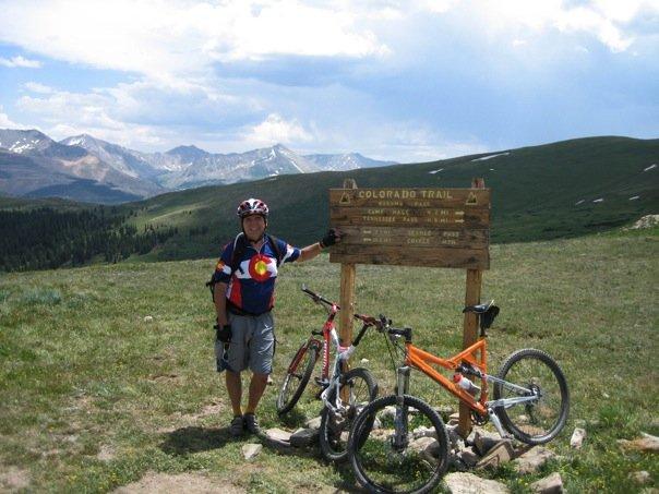 Mountain biking on Kokomo Pass above Copper Mountain, Colorado
