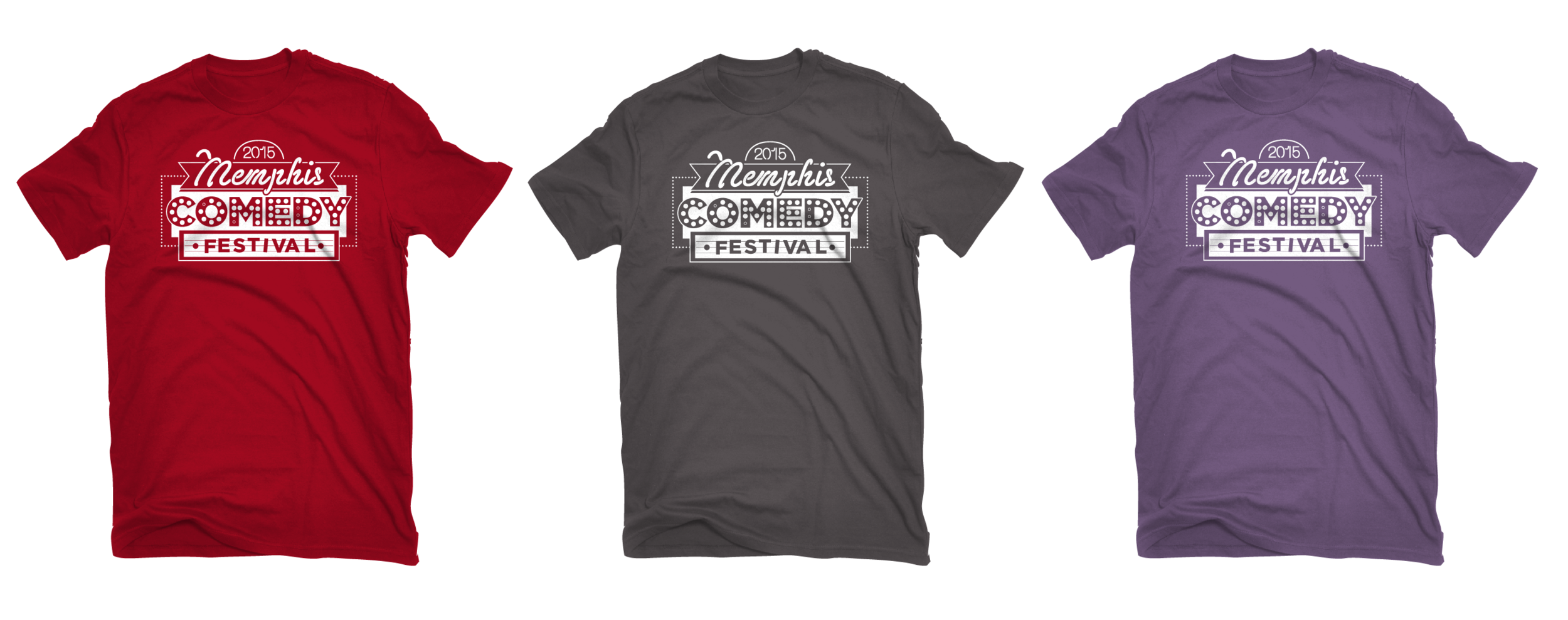 shirts in Antique Cherry, Charcoal Grey and Heather Purple