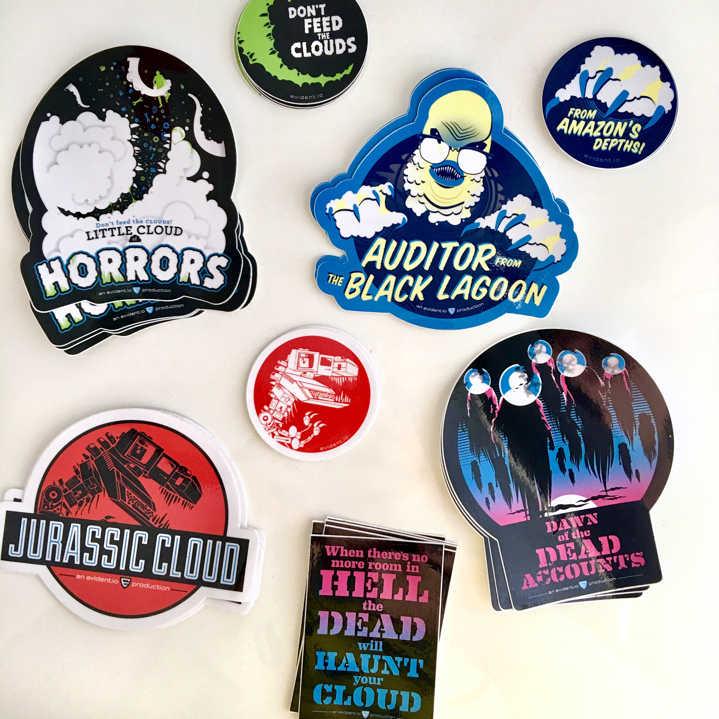 Monsters of the Cloud sticker series
