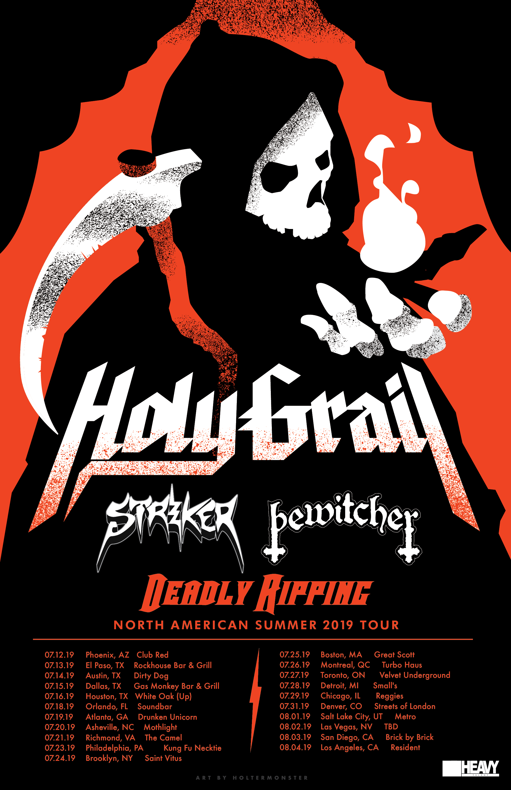 Holy Grail 2019 Deadly Ripping tour poster