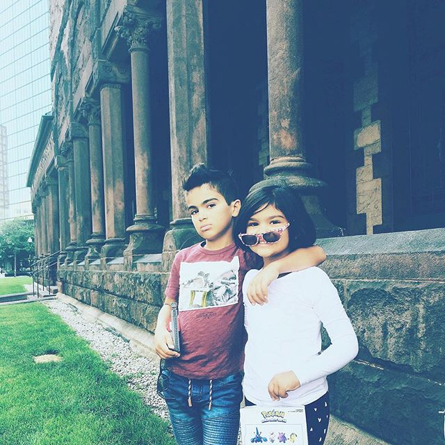 #neice #nephew #homies #besties #toys #swag #historic #building #old #brick #architecture