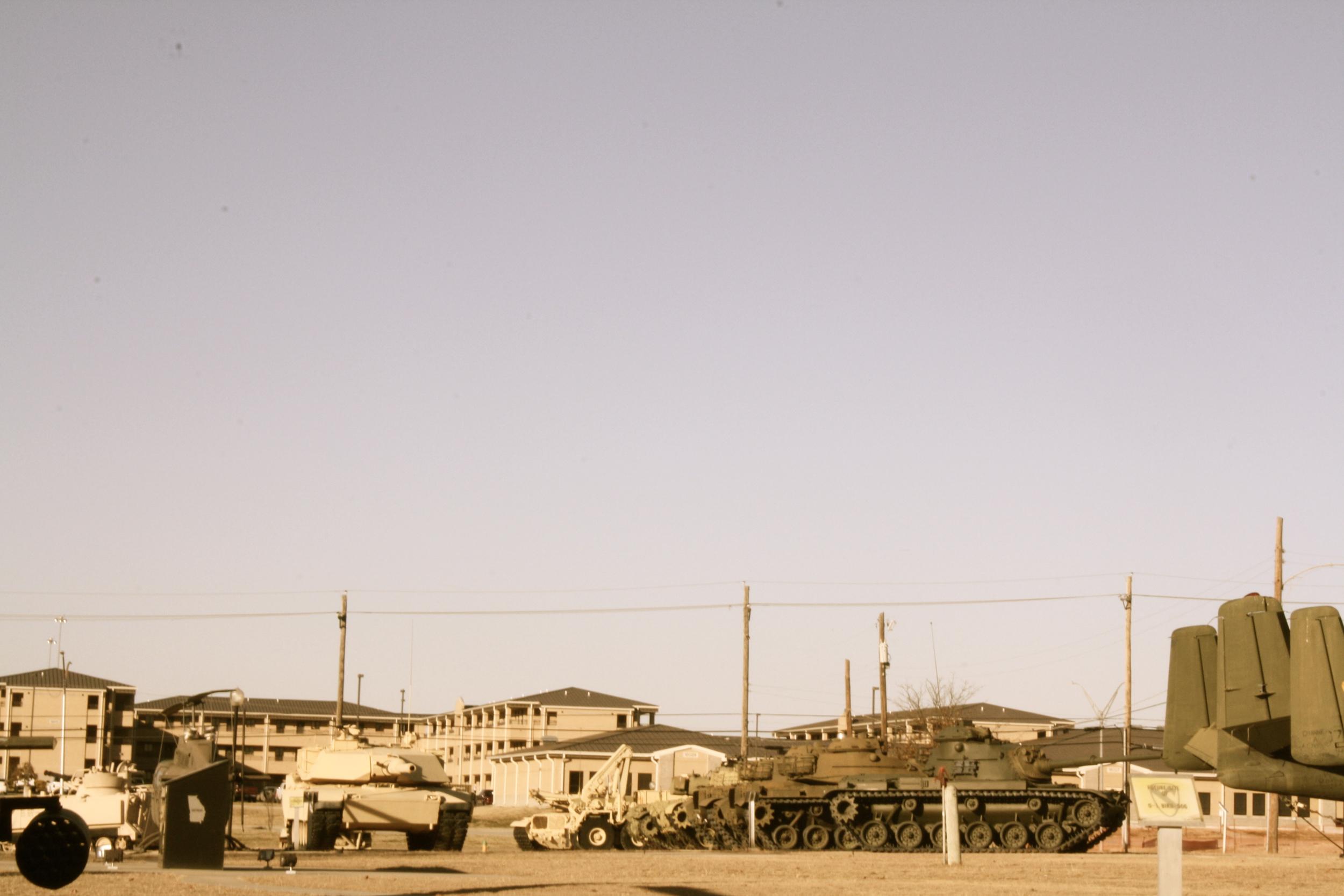 Barracks and Tanks, Fort Hood Military Base