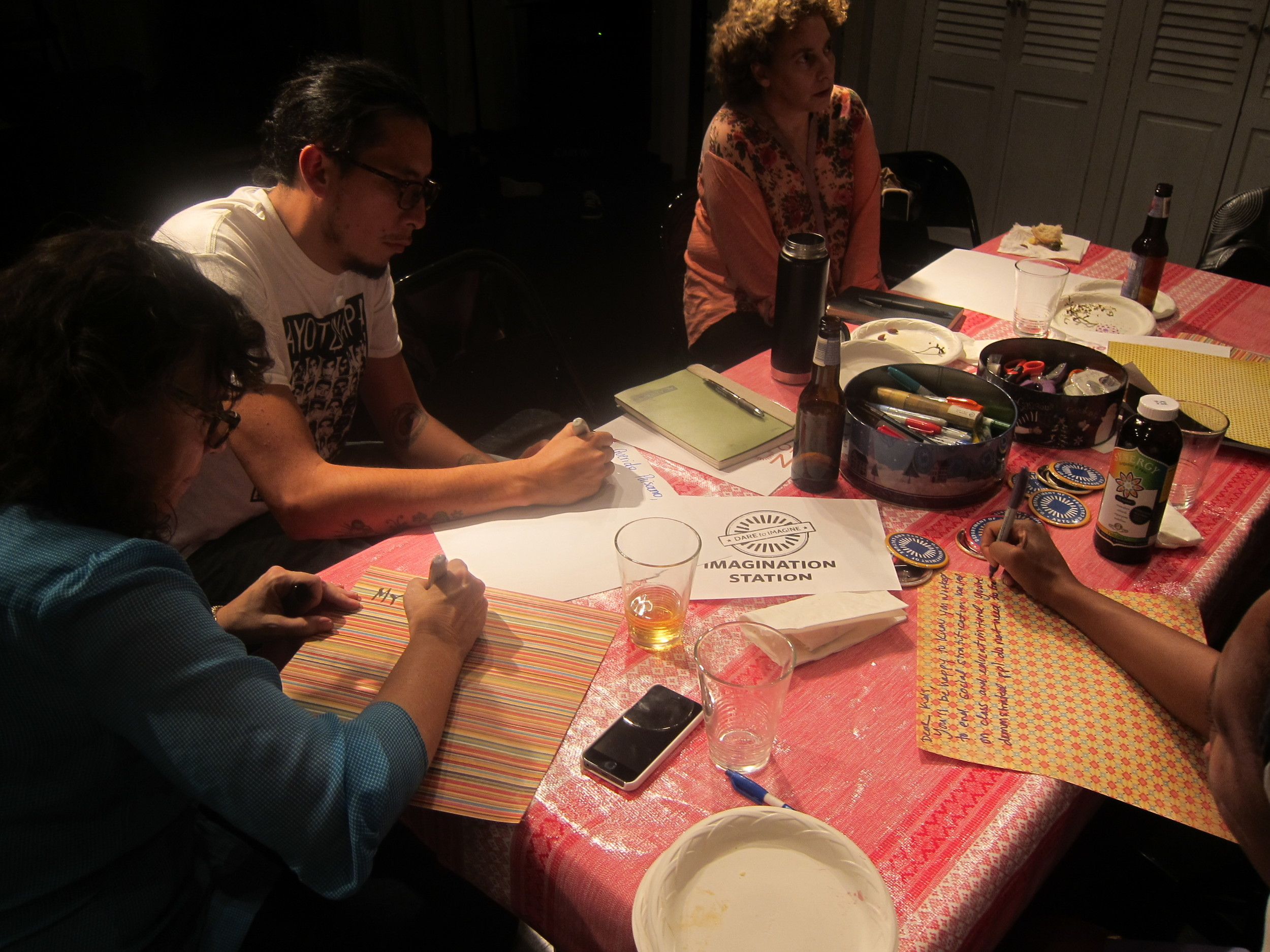 Artists Letter Writing for our Dare to Imagine with NOCD-NY
