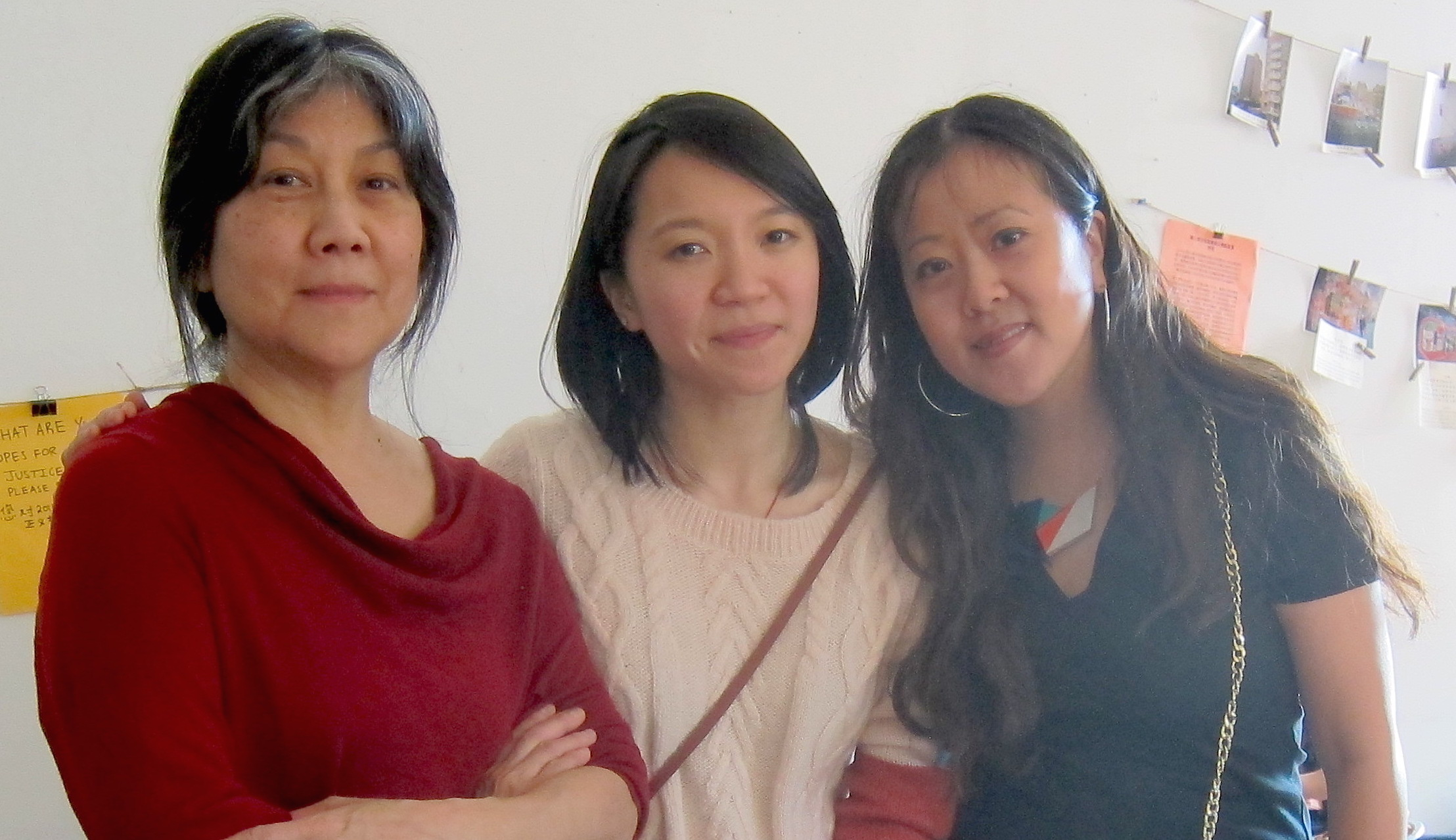 Tomie Arai, ManSee Kong and Betty Yu, co-founding members of Chinatown Art Brigade