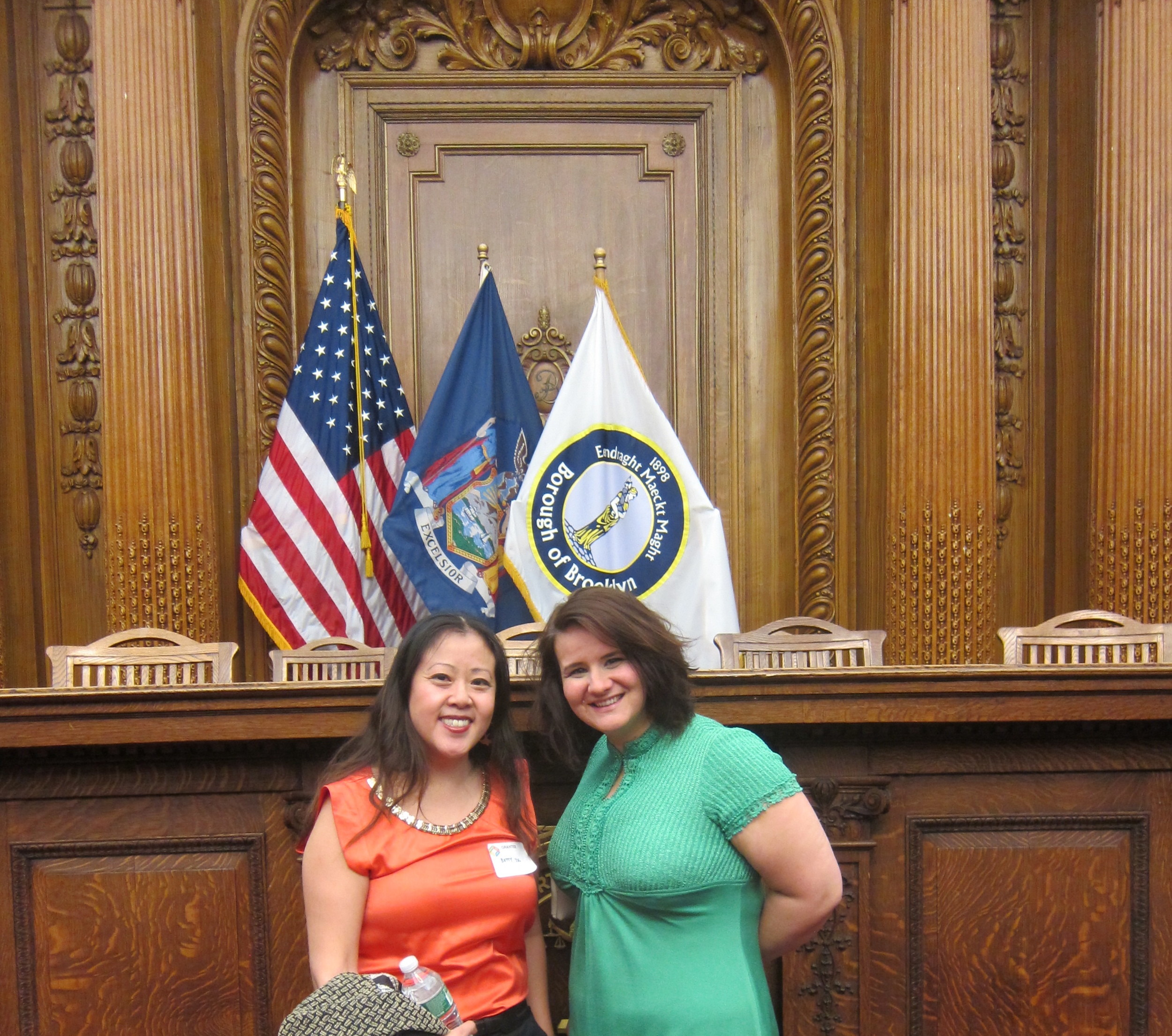 Betty with Morgan Tachco of Brooklyn Arts Council