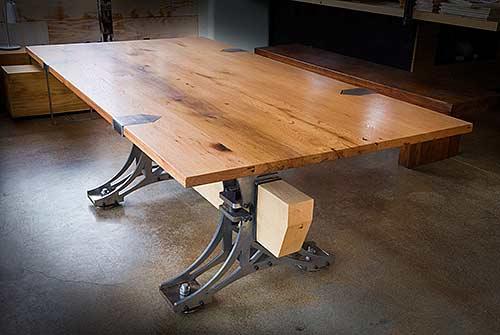 Truss Desk  with Oak top