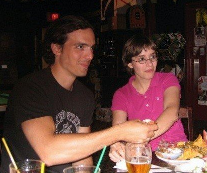 Katie and I post-show at Kings Head Pub in Winnipeg. And we wondered why people though we were a couple...