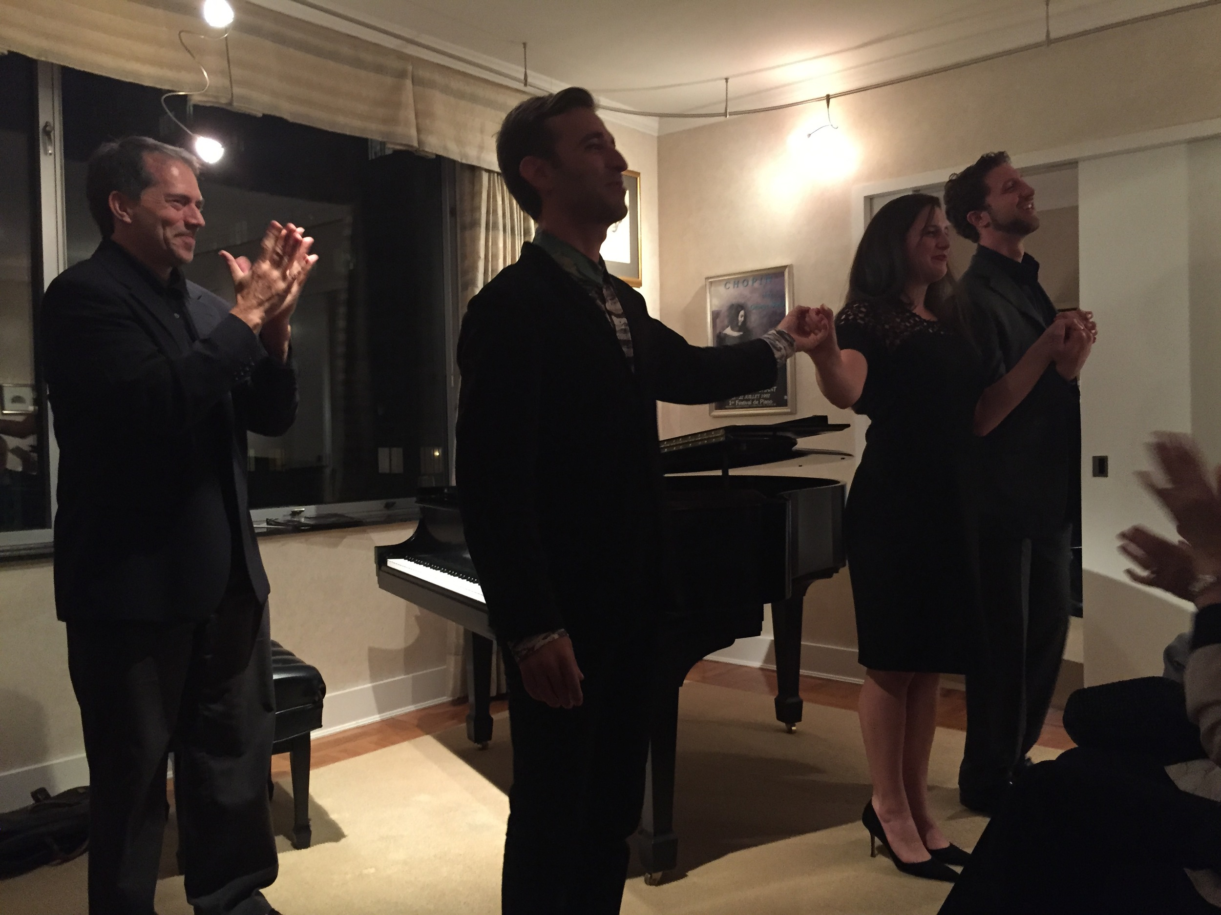 Curtain Call: Anthony Roth Costanzo, Allegra De Vita and David Leigh