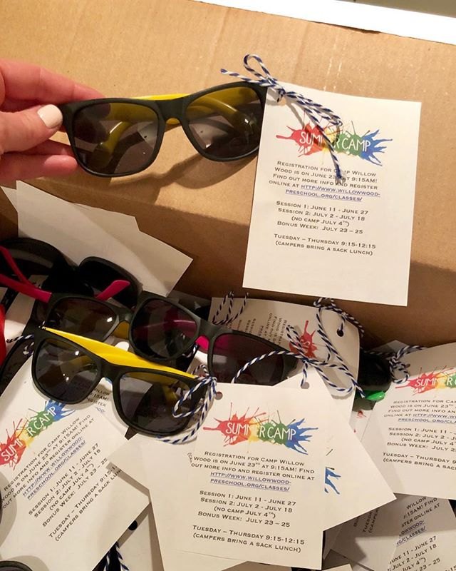 This week we sent home neon sunnies to get you all excited about the thought of summer! Don't forget online registration for camp opens this Wednesday! 🕶☀️🍉